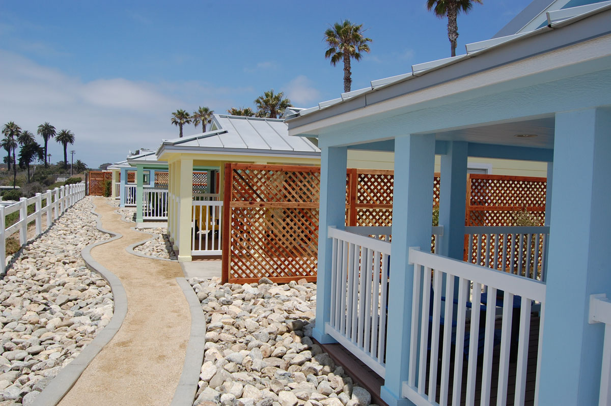 New Cottages At Camp Pendleton Beach Facilitated By The